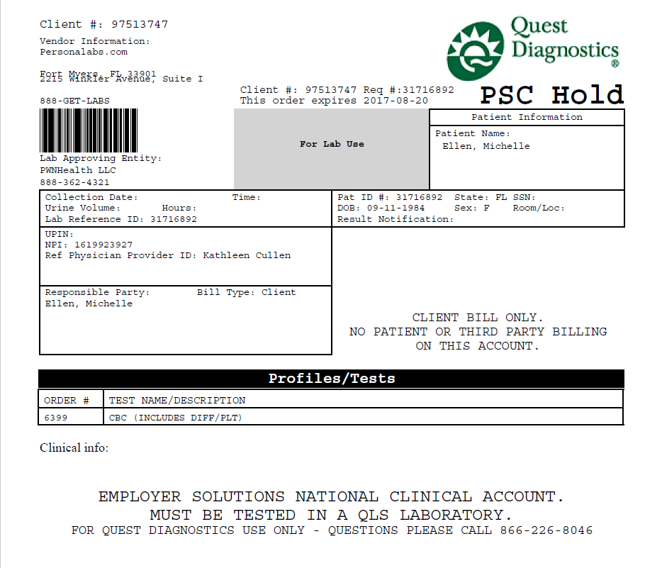 What does PSC Hold mean on my lab order? – Personalabs